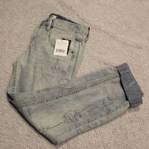 Free People Coachella Wash Distressed Jeans NWT
